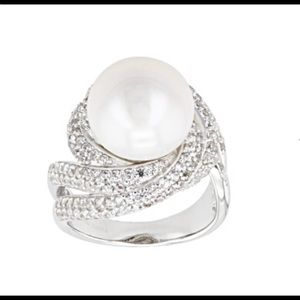 12-12.5MM WHITE CULTURED FRESHWATER PEARL RING